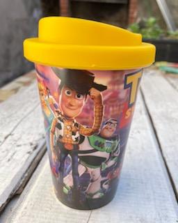 Vaso con tapa Toy Story