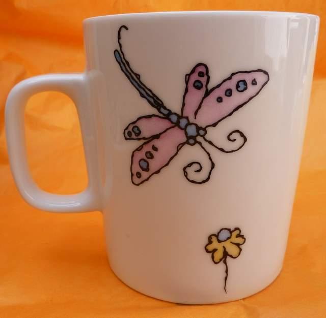 taza libélulas